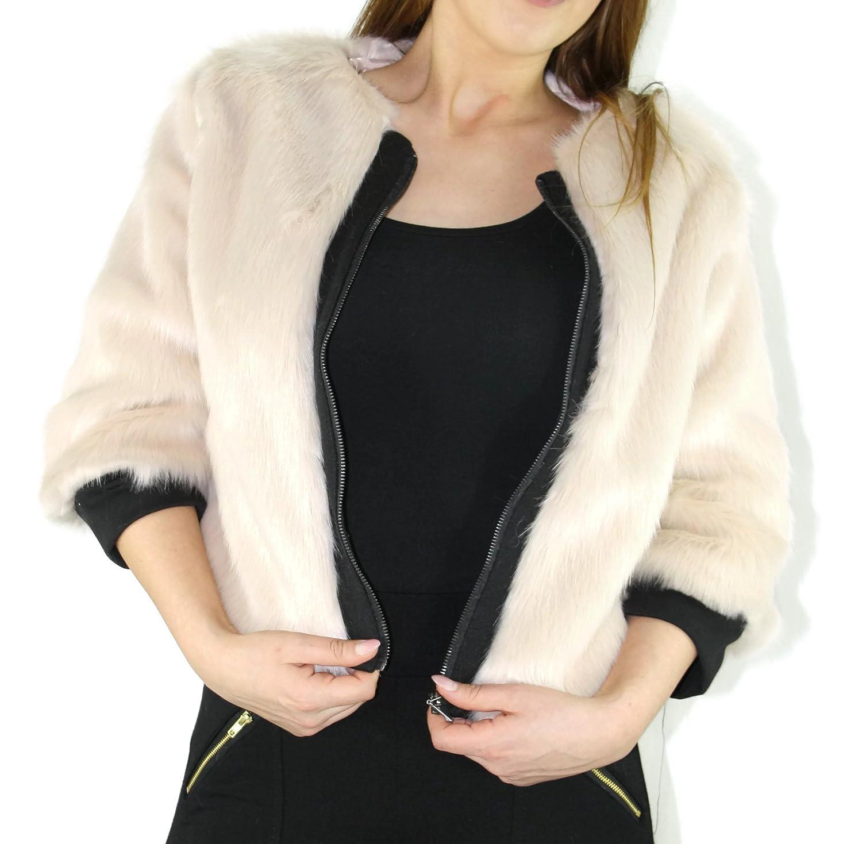 citydress24 - Torera - para mujer beige beige: Amazon.es: Ropa y accesorios