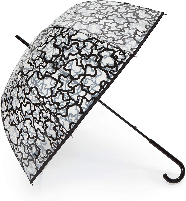 Paraguas Tous modelo Kaos negro- transparente: Amazon.es: Electrónica