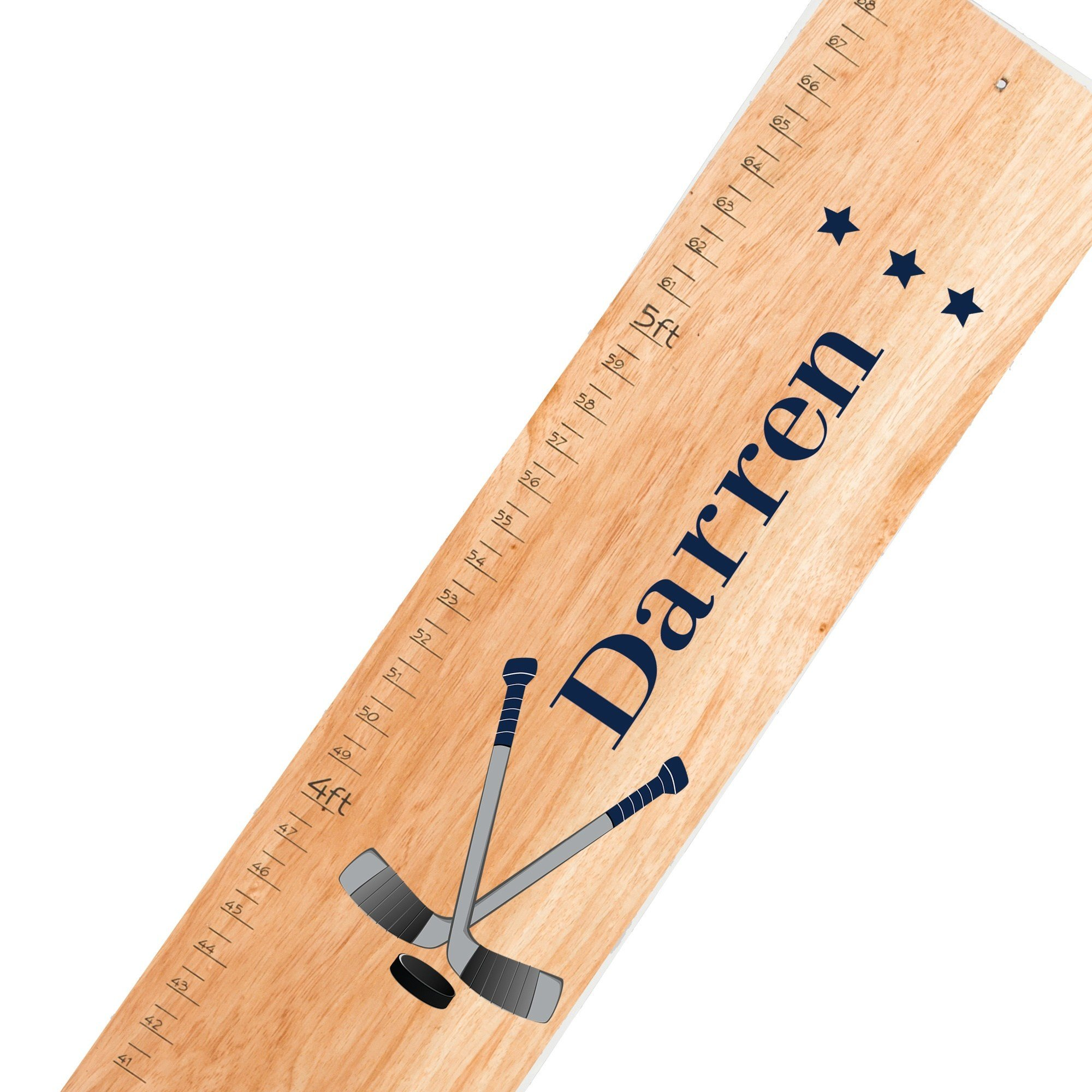 Personalized Ice Hockey Natural Growth Chart