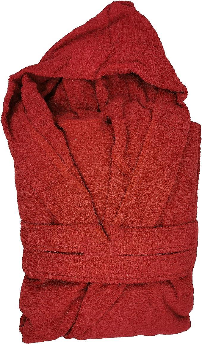 Sofficepiuma.it Il MORBIDONE Accappatoio con Cappuccio e Tasche in Morbida Spugna di Puro Cotone 100/% 350 gr//mq Taglie E Colori Vari