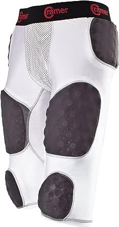 Cramer Skill 7 Pad Adult Integrated Football Girdle - White-XL