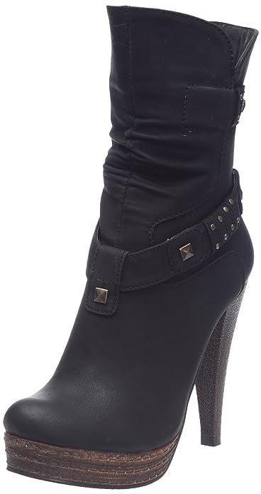 91da568d52ed B-Two Culina, Boots femme - Noir, 37 EU: Amazon.fr: Chaussures et Sacs