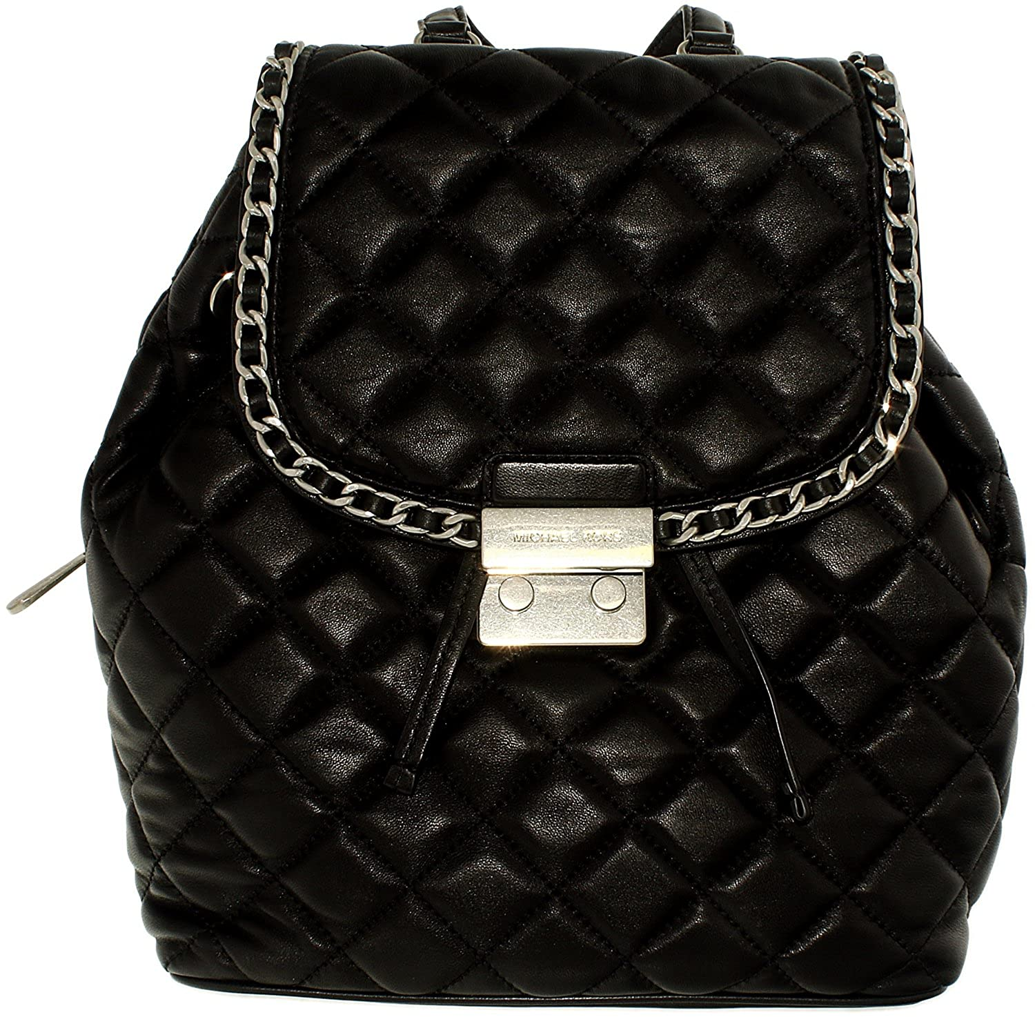 Amazon.com: Michael Kors Carine Medium Quilted-Leather Backpack ... : leather quilted backpack - Adamdwight.com
