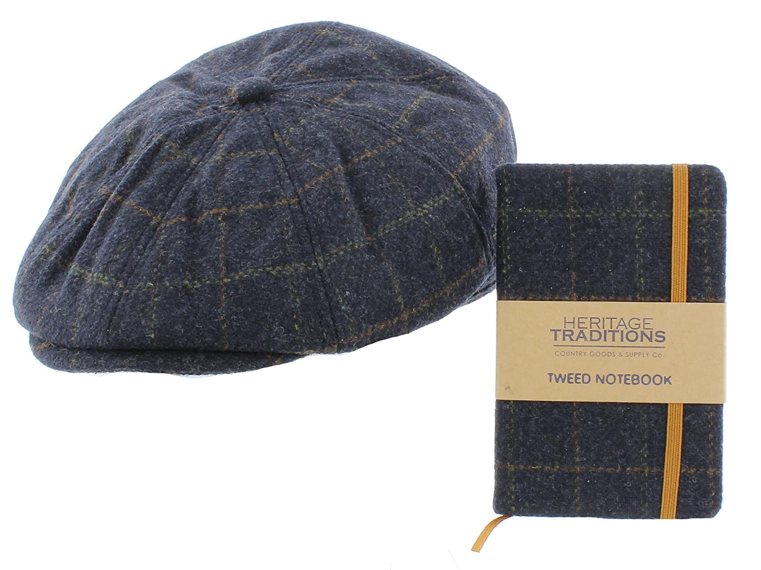 Wool Bakerboy Cap   Matching Notebook Gift Set – Birthday Christmas Father s  Day 2c62a70df961