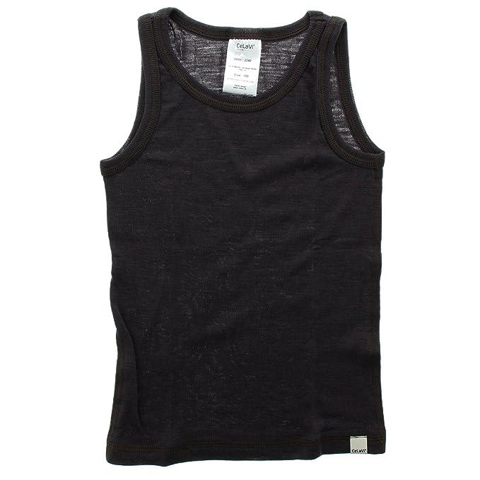 Celavi Camiseta interior de lana Unisex, Sin mangas, Edad:18-24 meses