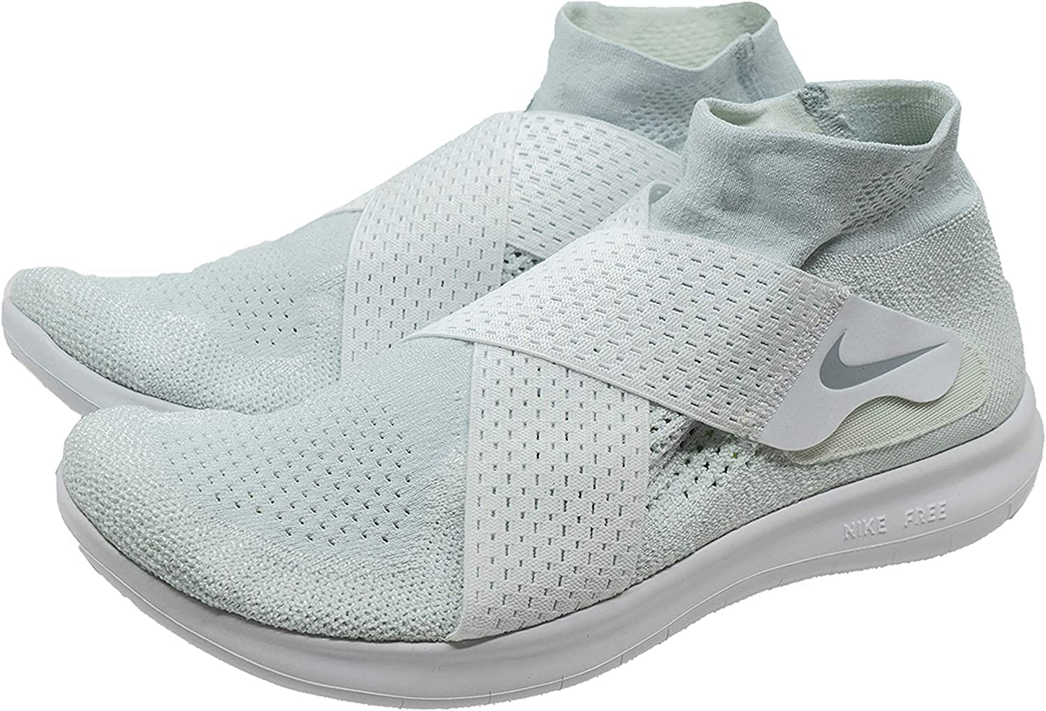 Nike Men s Free RN Motion Flyknit 2017 Running Shoe White Wolf Grey-Pure Platinum-Volt 10.0