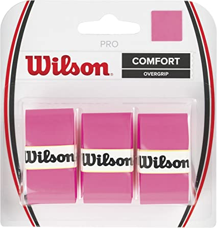 Wilson Pro Overgrip Empuñadura, 3 unidades, unisex, rosa: Amazon ...