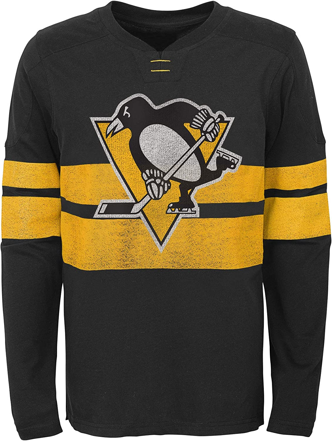 Pittsburgh Penguins Youth Featured Classic Long Sleeve T-Shirt