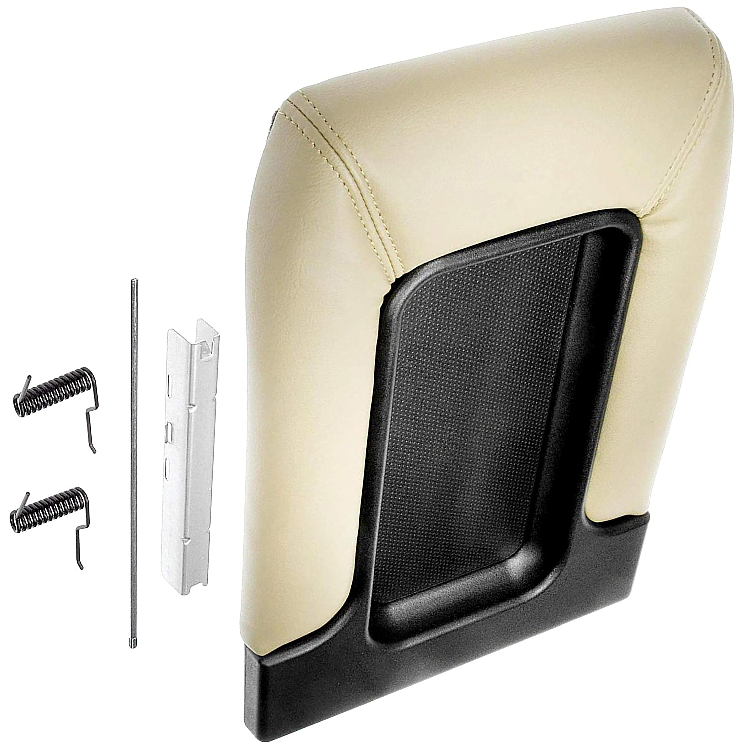 Replaces 19127366 APDTY 035923 Center Console Hinge /& Faux Leather Lid Armrest Replacement Kit Tan Color Fits 2001-2007 Silverado or Sierra 07 Classic 01-06 Escalade Avalanche Suburban Tahoe Yukon