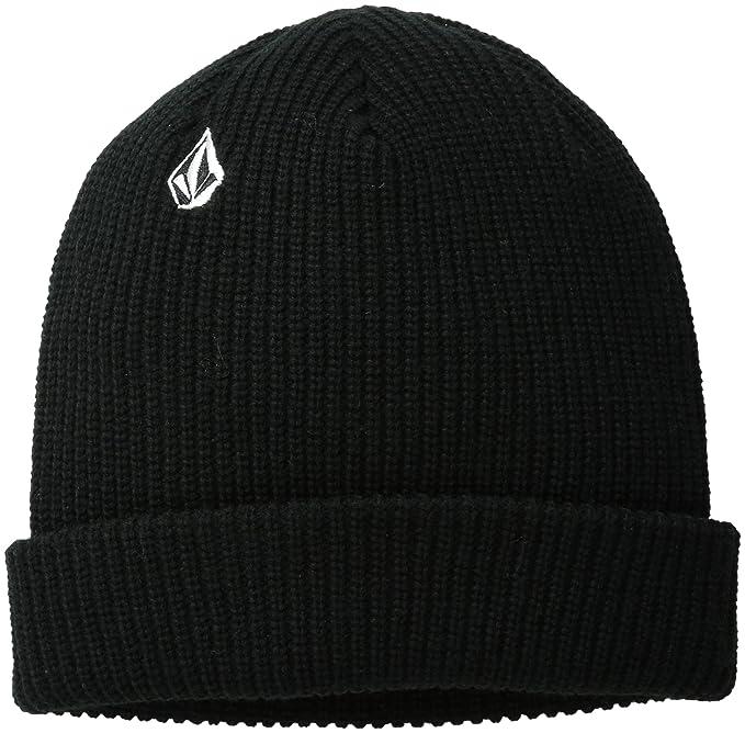 Amazon.com  Volcom Men s Full Stone Beanie Black  Clothing 41331a7dbb3