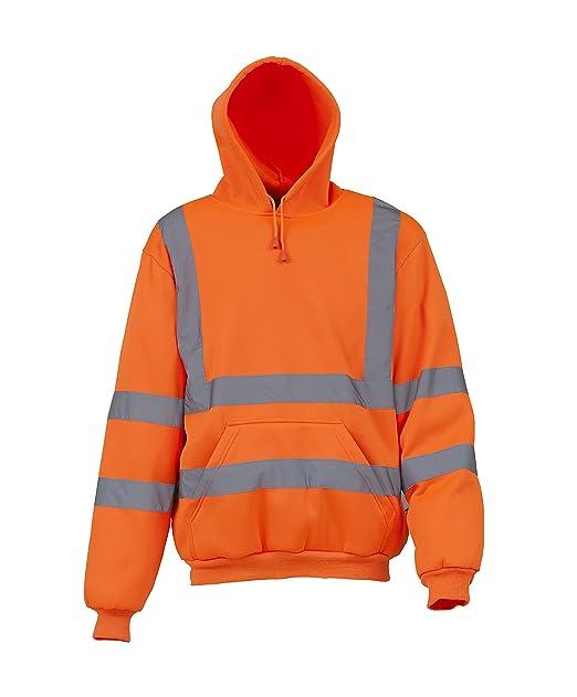 Yoko alta visibilidad Sudadera con capucha - naranja o amarillo / S - Orange - S: Amazon.es: Ropa y accesorios