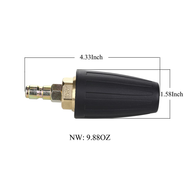030 /Öffnung Gr/ö/ße Hochdruckreiniger D/üse drehbar Turbo D/üse 1//10,2/cm Quick Connect Plug 3000/PSI