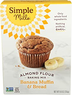 product image for Simple Mills Almond Flour Baking Mix, Gluten Free Banana Bread Mix, Muffin Pan Ready, Made with whole foods, (Packaging May Vary), 9 Ounce