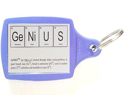 Elementos químicos - genius, una sola cara llavero, llavero ...