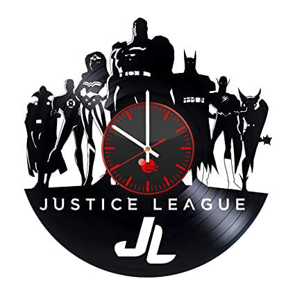Stupendous Superhero Bedroom Vinyl Record Justice League Wall Clock Get Unique Room Decor Gift Ideas For Men Boys And Girls Unique Dc Comics Fan Art Download Free Architecture Designs Rallybritishbridgeorg