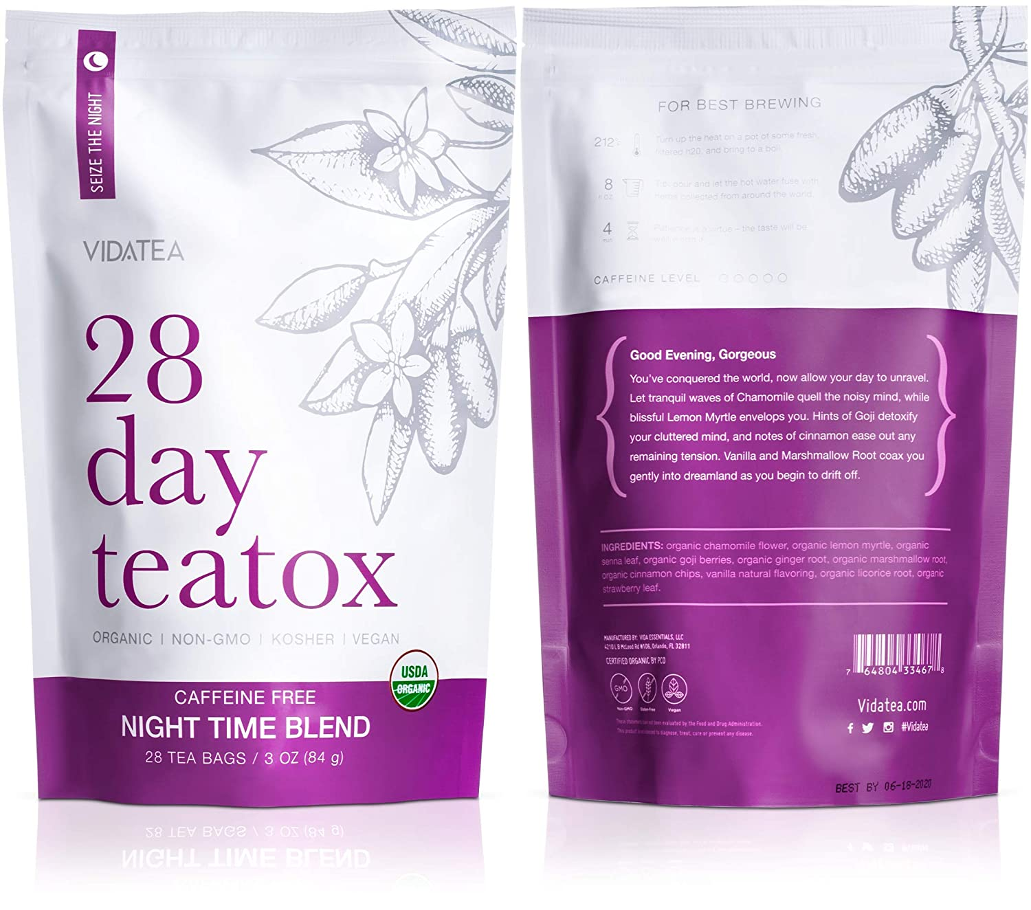 Best Cleanse For Weight Loss 2020 Amazon.com: Night Time Detox Tea   Teatox (28 Tea Bags)   Organic