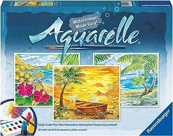 Ravensburger Aquarelle Maxi Beach Paradise Amazon Fr Jeux Et Jouets