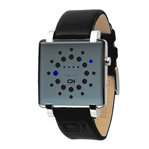 Binary THE ONE Gamma Ray GRQ116B1 - Reloj digital unisex de cuarzo con correa de piel negra: Amazon.es: Relojes