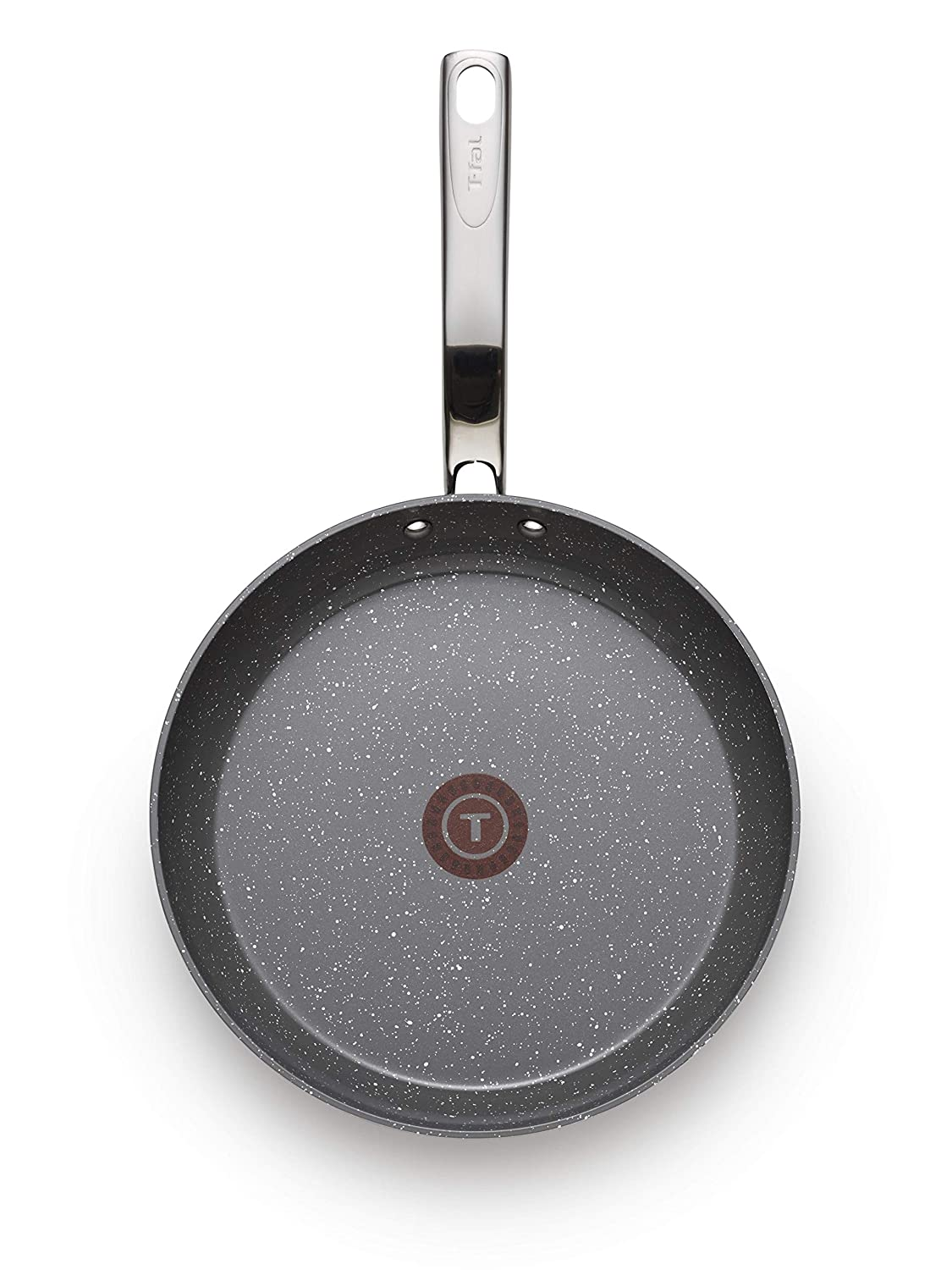 T-fal C41205 Endura Granite Ceramic Nonstick Thermo-Spot Heat Indicator Dishwasher Oven Safe PFOA Free Fry Pan Cookware, 10.5-Inch, Gray