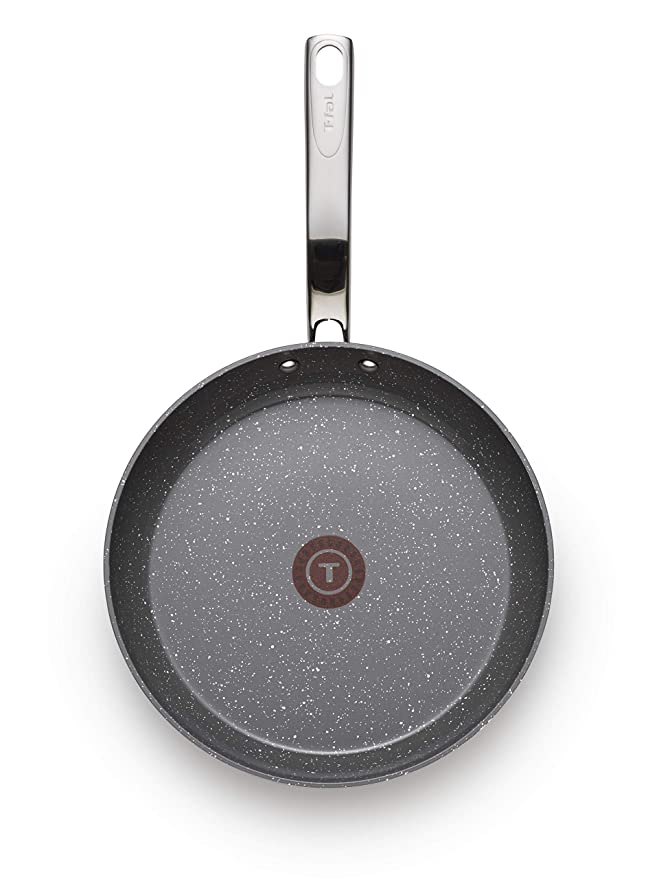 Amazon.com: T-fal C41205 Endura Granite Ceramic Nonstick Thermo-Spot Heat Indicator Dishwasher Oven Safe PFOA Free Fry Pan Cookware, 10.5-Inch, ...