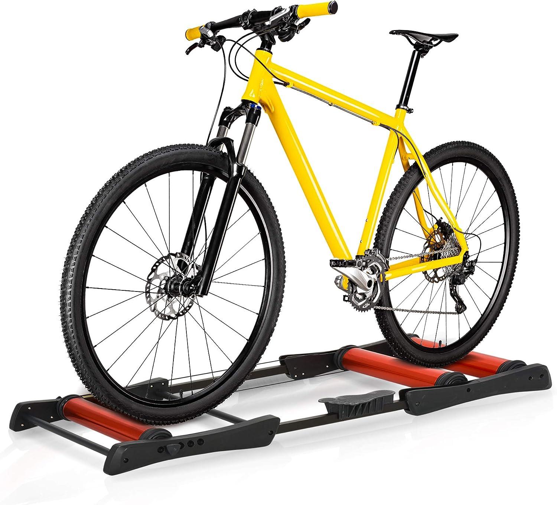 Yaheetech Rullo//Trainer Allenamento Bici Pieghevole per Bicicletta da 26 a 29 Pollici e 700C Ciclismo Freno Magnetico 6 velocit/à Regolabili con Marce Commutabili a Cavo