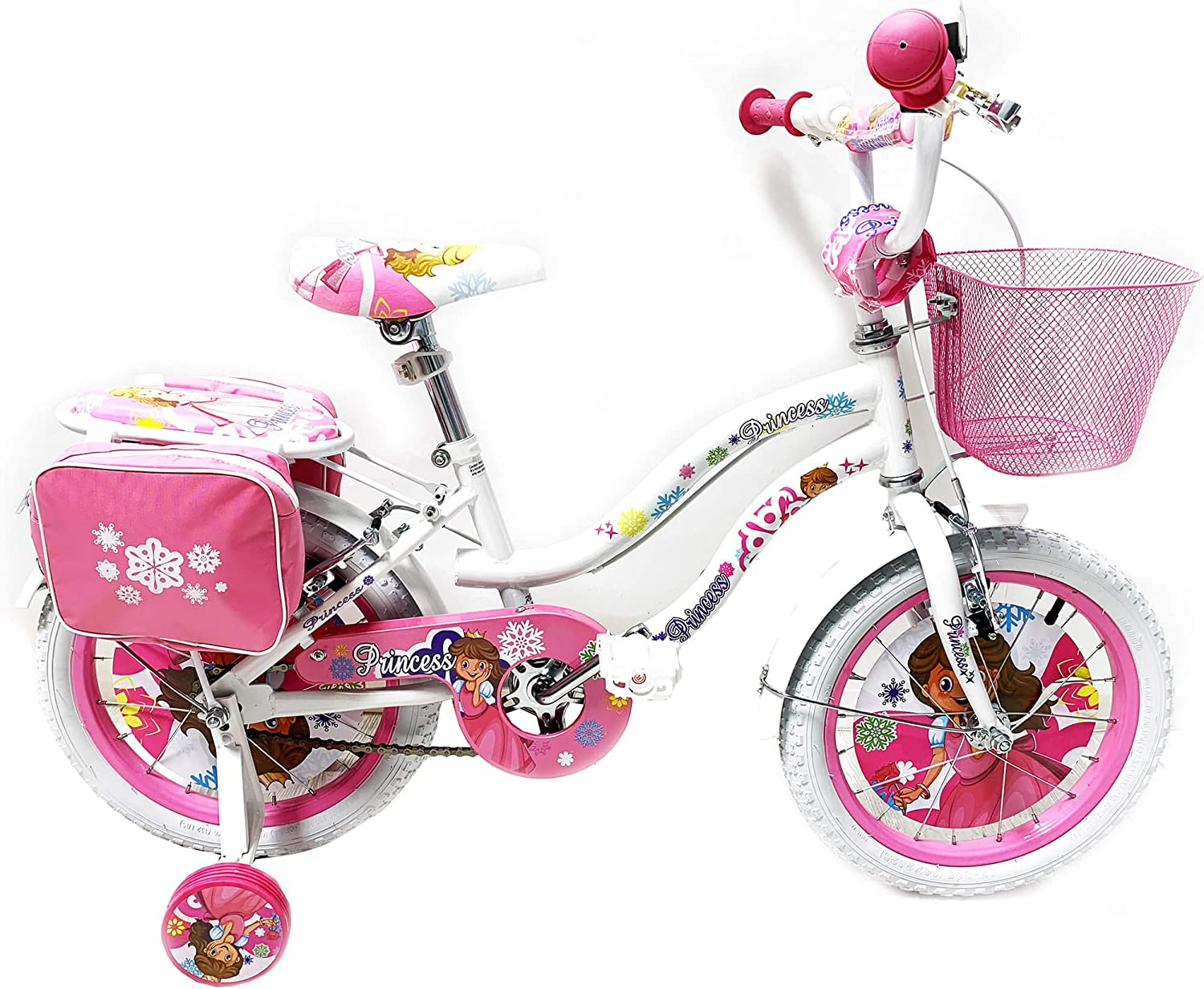 Reset Girls Bike 16 2 Brakes Princess White and Pink