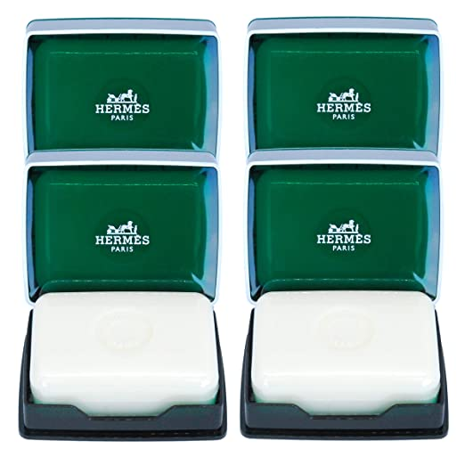Four (4) Luxury Hermes d'Orange Verte Gift Soaps From Hermes Paris 3.5oz / 100g Perfumed Soaps / Savons Parfume