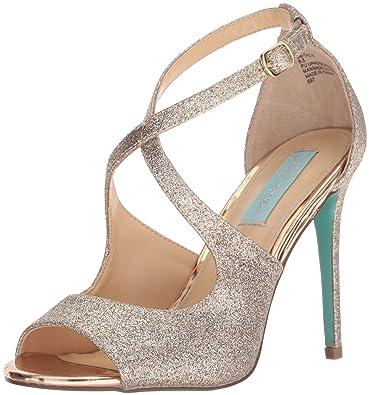 c90aaa1055b Amazon.com  Blue by Betsey Johnson Women s Sb-tacie Heeled Sandal  Shoes