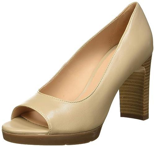 D Annya High Sandal D, Scarpe col Tacco Punta Aperta Donna, Nero , 41 EU