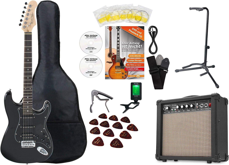 Set de guitarra eléctrica Rocktile Super Kit Black con muchos ...