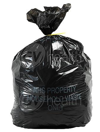 30L pequeño negro bolsas de basura/bolsas (500 bolsas ...
