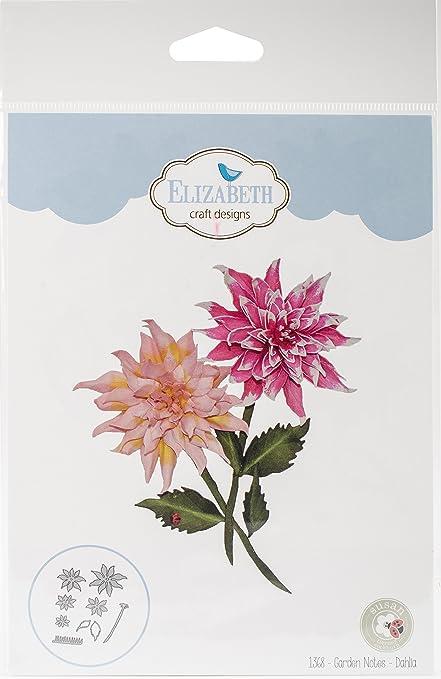 Elizabeth Craft Designs 1368 Metal Die Garden Notes Dahlia
