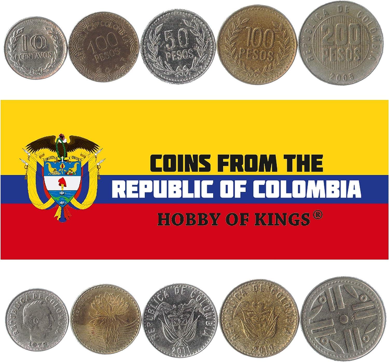 5 Monedas Diferentes - Moneda extranjera Colombiana Antigua y Coleccionable para coleccionar Libros - Conjuntos únicos de Dinero Mundial - Regalos para coleccionistas: Amazon.es: Juguetes y juegos