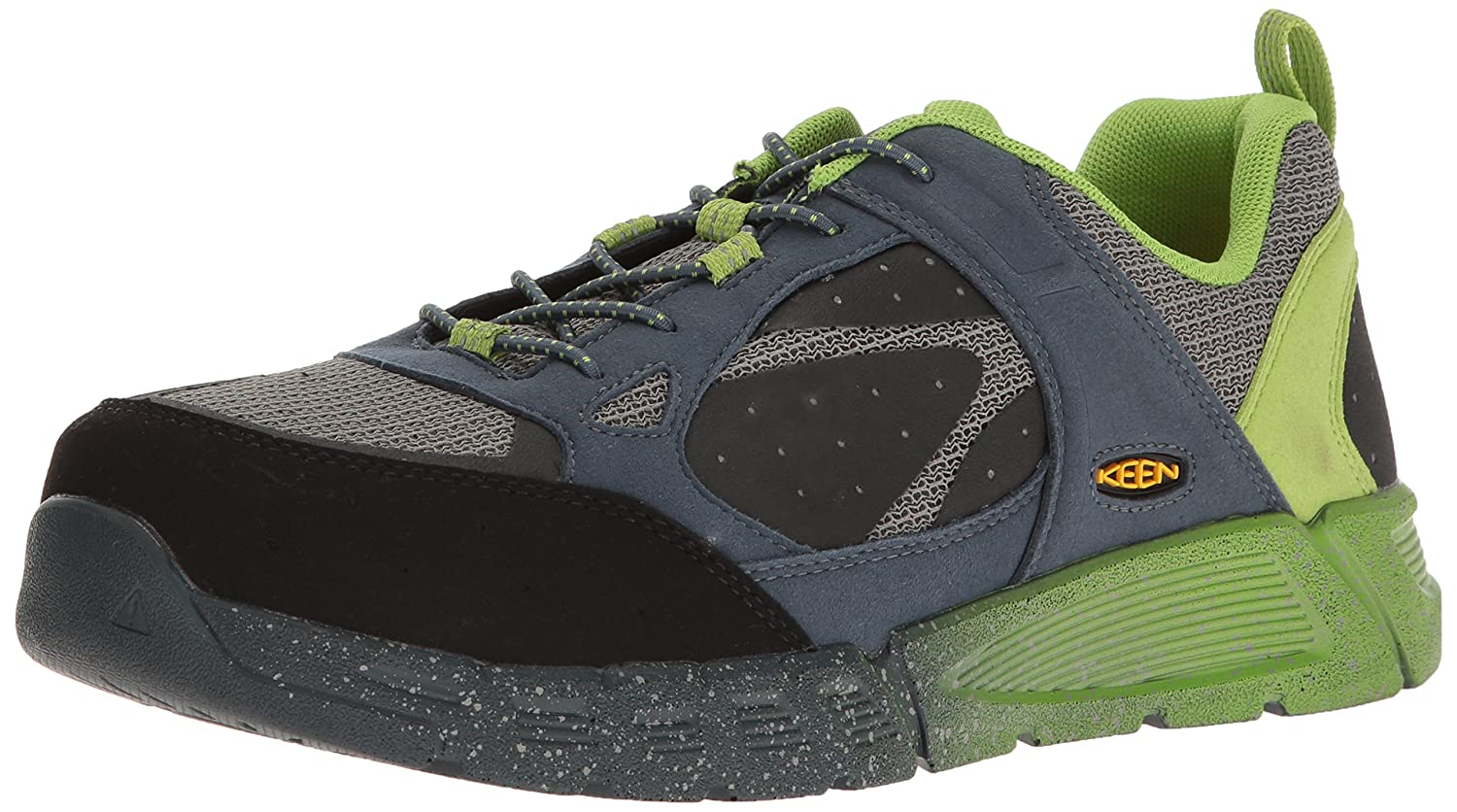 KEEN Utility メンズ B01J27G0C8 11 2E US|Neutral Grey/Greenery Neutral Grey/Greenery 11 2E US
