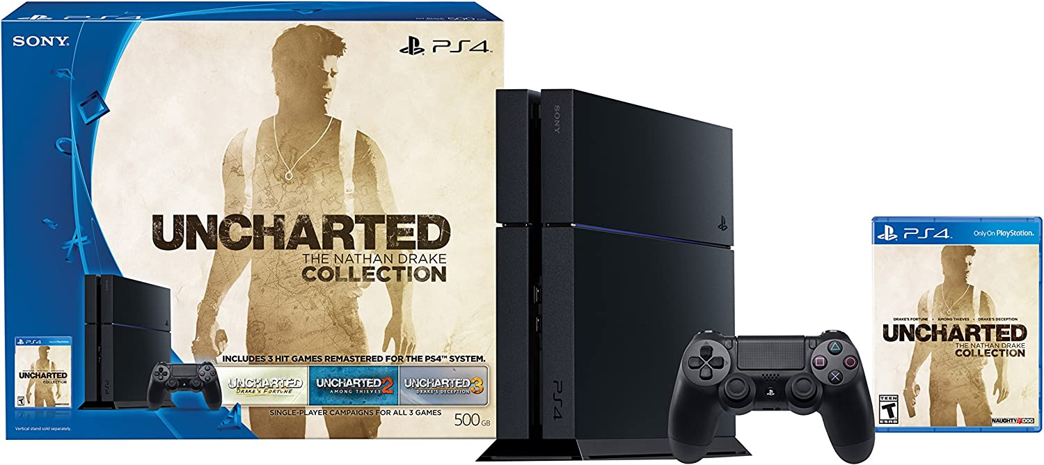 PlayStation 4 500GB Console – Uncharted The Nathan Drake Collection Bundle Physical Disc Discontinued