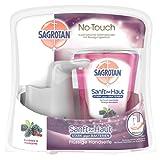 Sagrotan No-Touch Automatischer Seifenspender Silber inkl. Nachfüller Brombeere & Waldfrüchte, Flüssige Handseife, 1er Pack ( 1 x 250 ml)