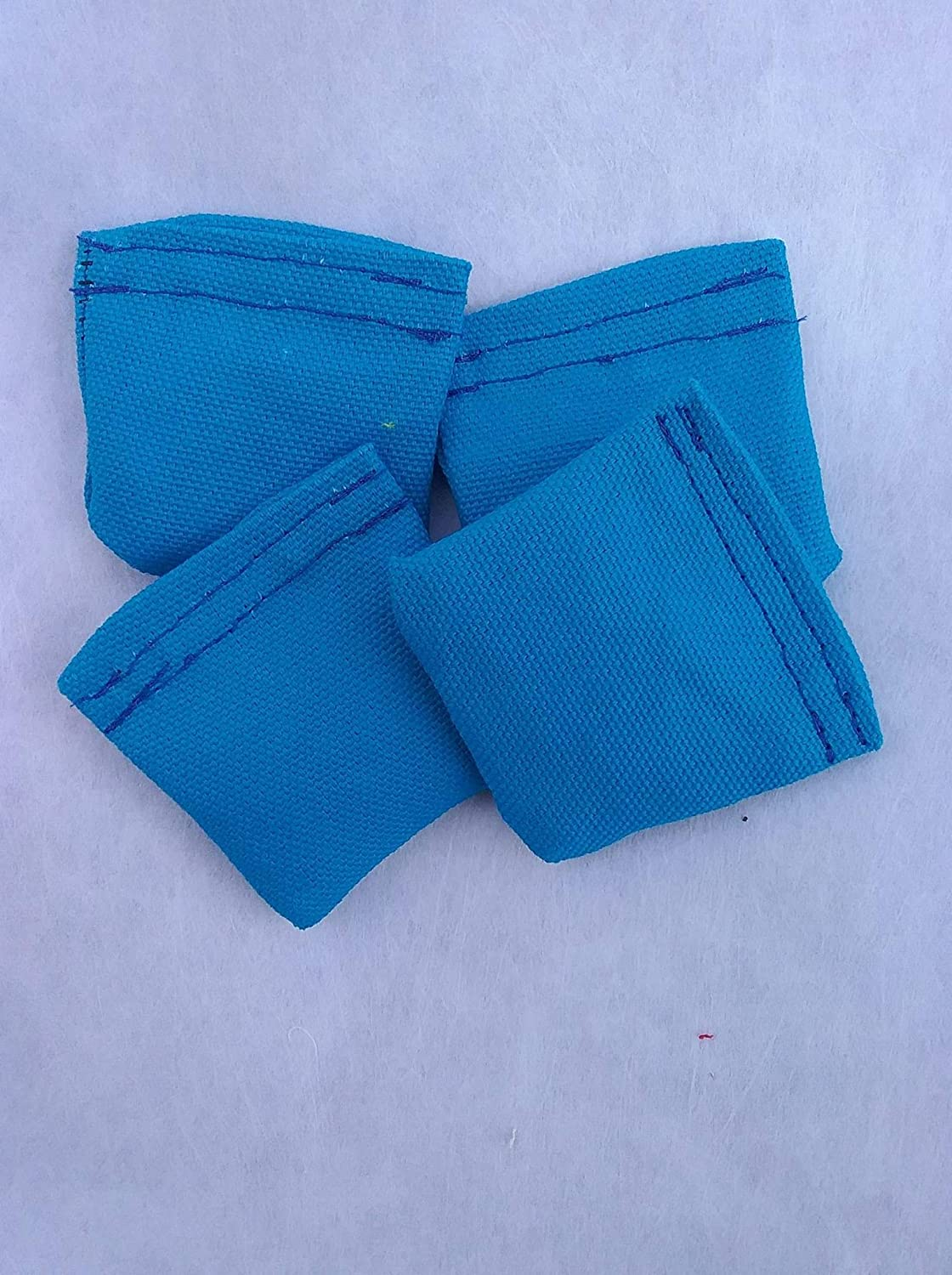 2 Bean Bag Toss Bright Blue Set of 4 Mini Cornhole Bags