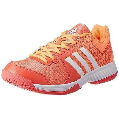 adidas Ligra 4, Chaussures de Volleyball Femme, Easy Coral/FTWR White/Glow Orange