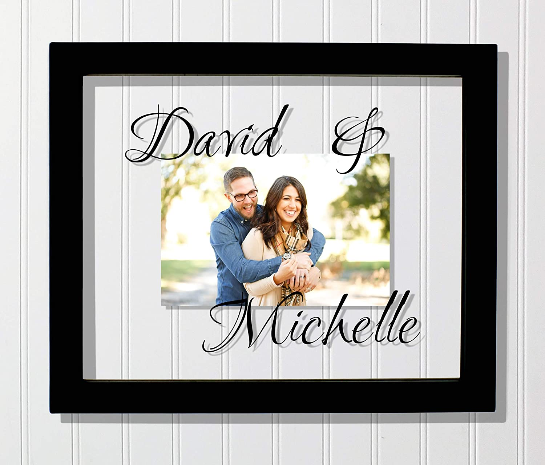 Personalized Custom Names Boyfriend Girlfriend Husband Wife Newlyweds Duo Custom Couples Frame Customized Photo Picture Frame Floating Frame
