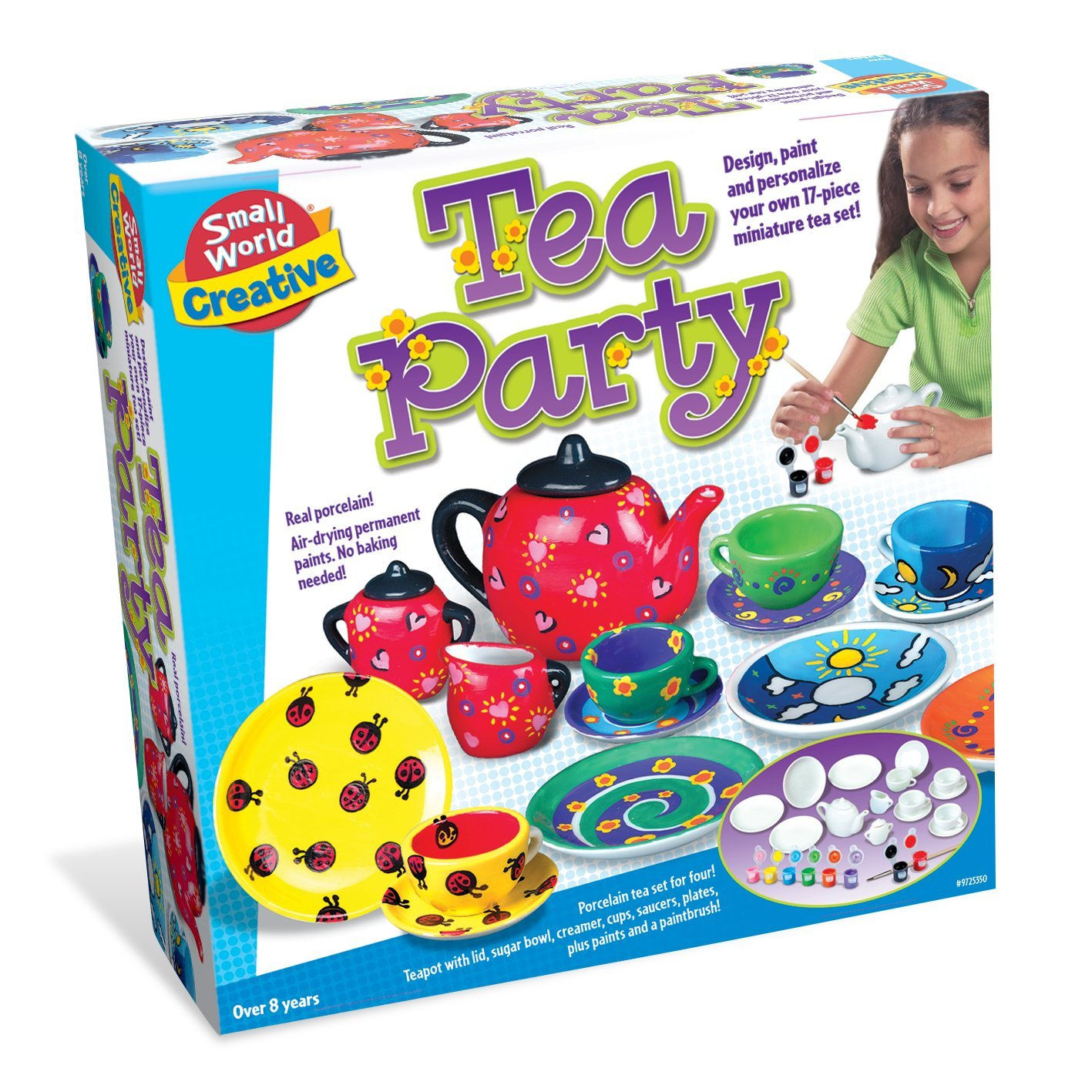 Small World Toys Creative - Tea Party 17 Pc. Porcelain Set