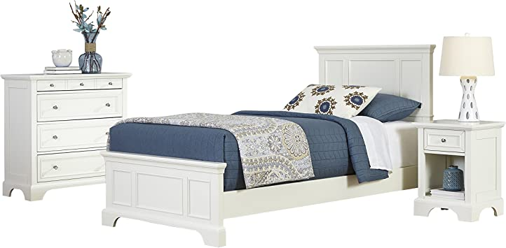 Naples White Twin Headboard by Home Styles