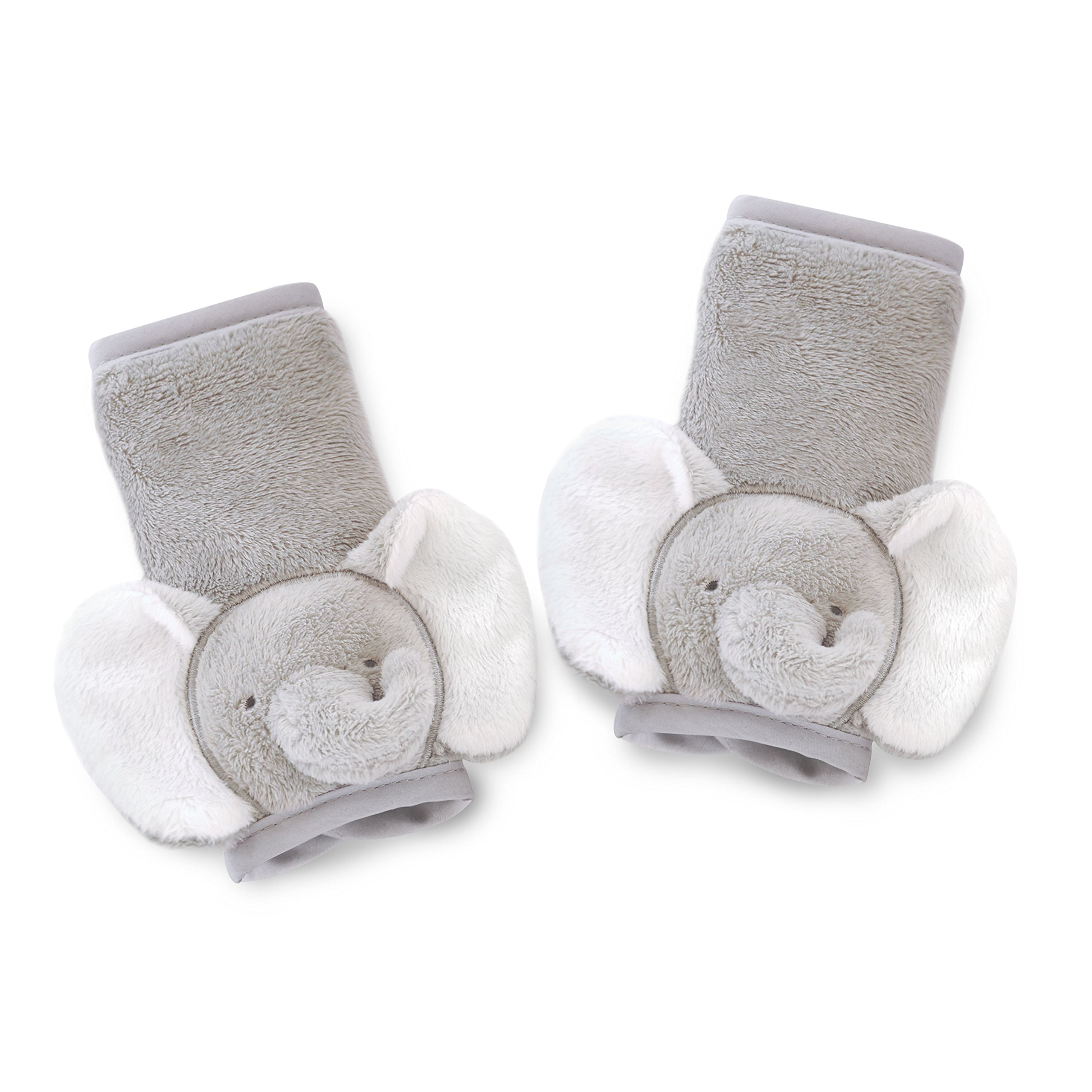 Carter's Plush Strap Covers, Animal Elephant, Grey/White by Carter's
