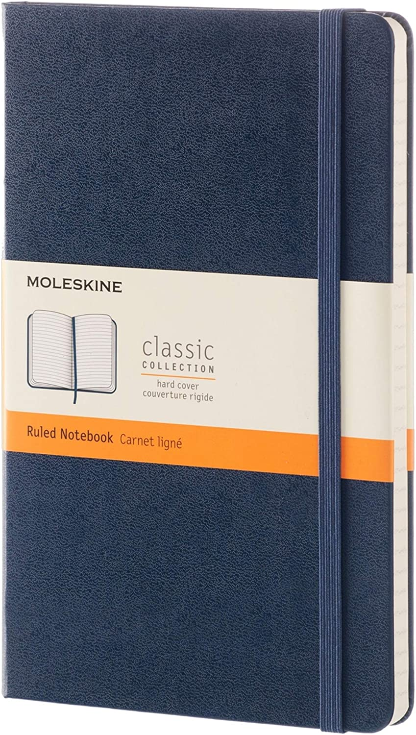 This is an image of a notebook in hardcover with garter closure.