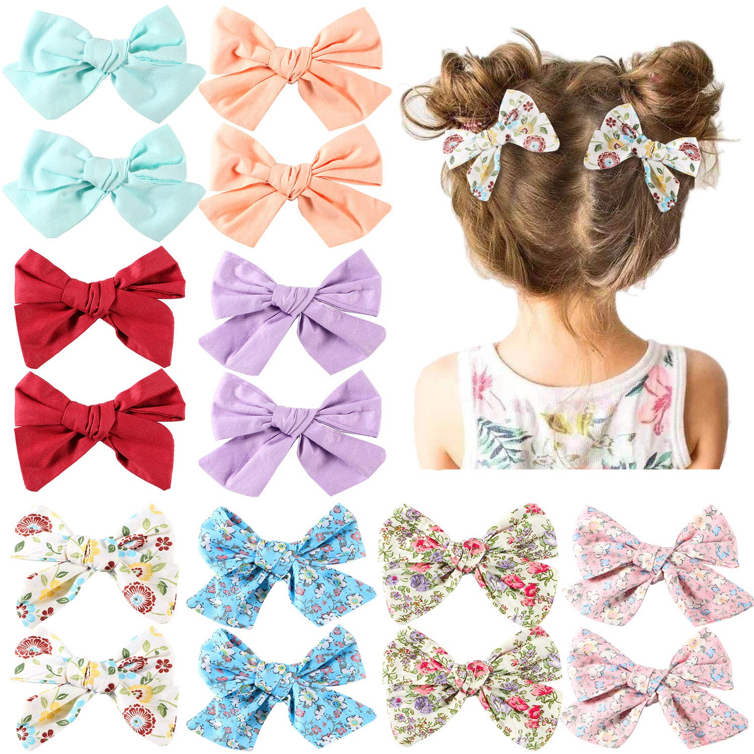 red toddler hair accessories Red ribbon hair bows on thin bobbles hair slides