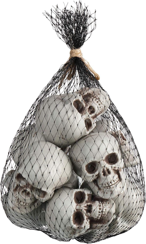 Boao 10 Packs Halloween Skeleton Head Small Mini Skulls for Halloween Party, Halloween Decor Props,Table Decor