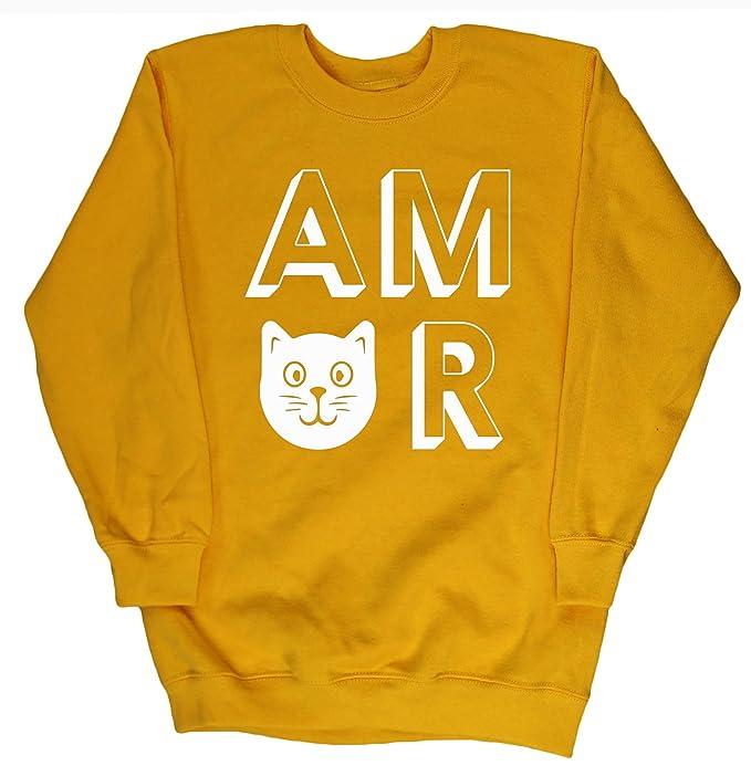 HippoWarehouse Amor Gatos jersey sudadera suéter derportiva unisex niños niñas: Amazon.es: Ropa y accesorios