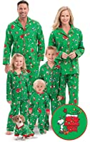 PajamaGram Charlie Brown Christmas Matching Family Pajamas, Green