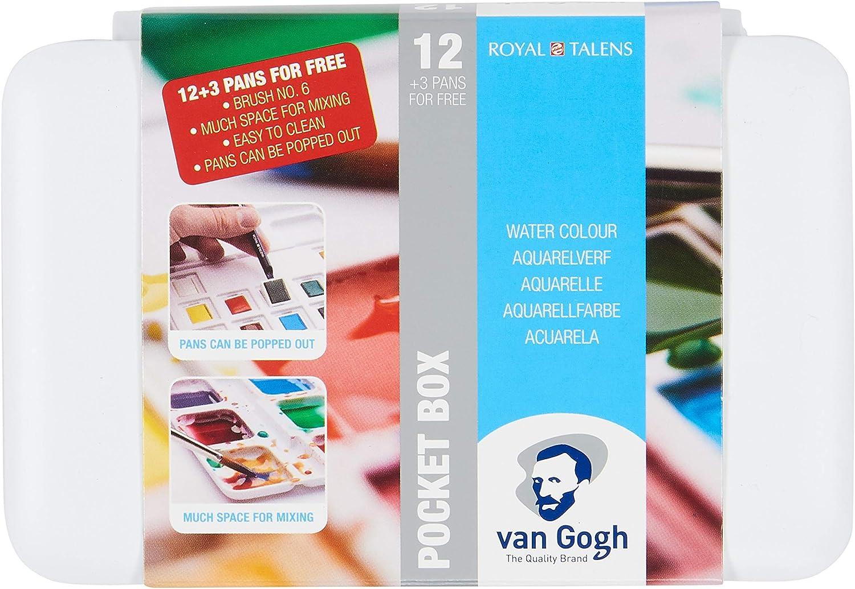 Estuche Pocket Box 12+3 Acuarela Van Gogh: Amazon.es: Oficina y papelería