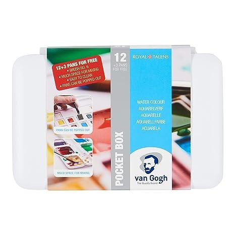 Estuche Pocket Box 12+3 Acuarela Van Gogh: Amazon.es ...
