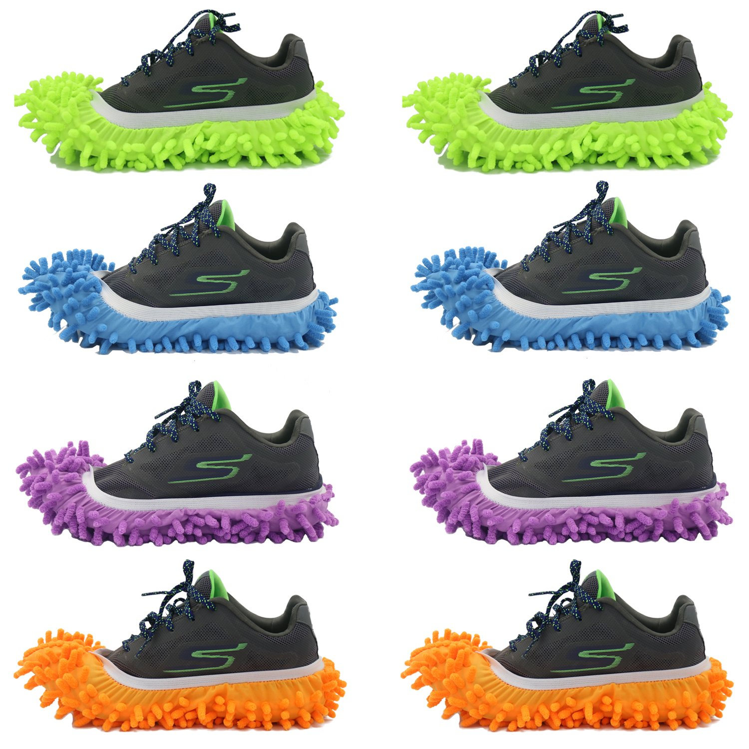 10pcs Quick Polishing Cleaning Dust Cleaner Lazy Mop Slippers Floor Foot Shoes